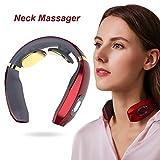 Masajeador de Cuello,Masajeador Electromagnético,Masajeador de Cuello Multifunción,Masajeador Inalámbrico Electrónico Puede Aliviar Rápidamente el Dolor Cervical - 6 métodos de masaje