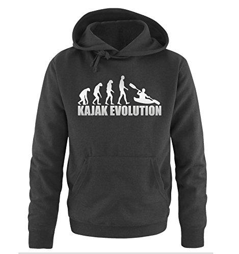 R1 - KAJAK EVOLUTION -Herren Hoodie in Schwarz/Silber Gr. M