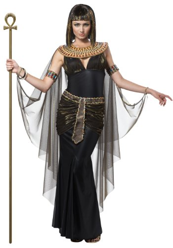 Ladies Black Queen Cleopatra Egyptian Halloween Fancy Dress Costume Small