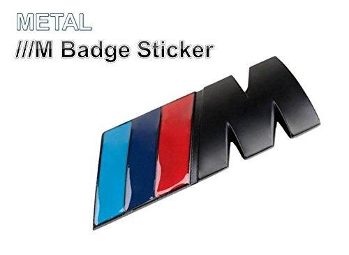 Preisvergleich Produktbild BMW///M Metall 3D hinten Abzeichen Schwarz M-Tech Power Sport Emblem Aufkleber passend für alle BMW 13567Serie M3M5