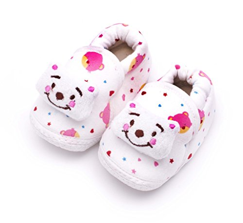 Infano Teddy Style Printed Pink Color Baby Shoes New (1 Pair)