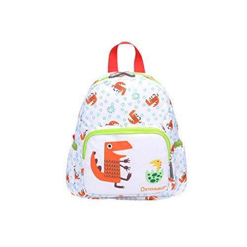 Dorical Rucksack für Kinder/Baby, Mädchen und Jungen, Cartoon Animal Schultasche, Backpack Schulrucksack,Umhängetasche,Family Travel Rucksack Tasche, Ausverkauf(Grün) -