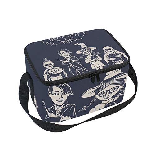 SKYDA Lunchpaket Box Insulated Lunchpaket Bag Large Cooler Cartoon Kind Halloween Tote Bag for Men, Women, Girls, Boys (Filme Cartoon Halloween-kid)