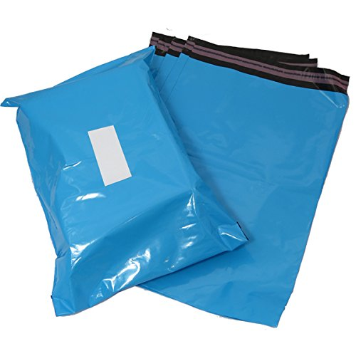 Triplast 9 x 30 cm, in plastica, per spedizioni postali, colore: azzurro (Confezione da 100)