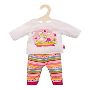 Heless 1465 Traumhafter Puppen-Pyjama Glücksschäfchen, Große 28-35cm