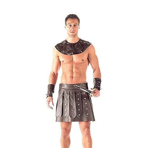 ischer Soldat Herren Kostüm Spartanischer Krieger Ritter Cosplay Kostüm Set für Cosplay Uniform, Karneval & Halloween ()