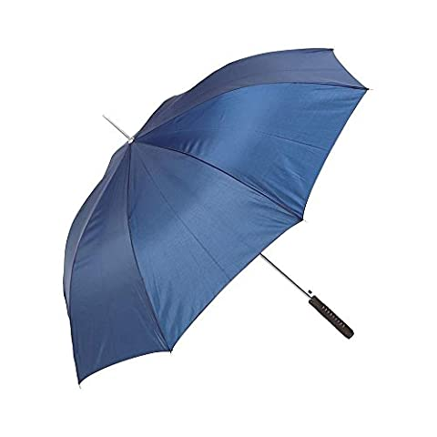 All-weather 48 Inch Polyester Auto-open Umbrella- Blue