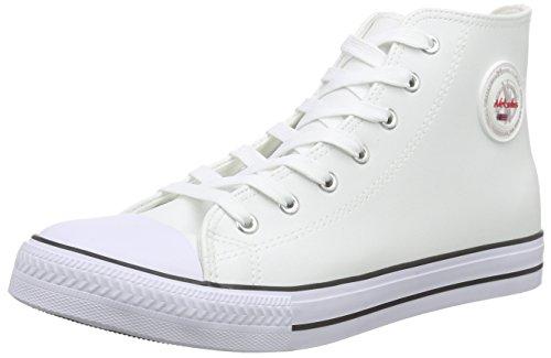 Nebulus T453 - Ledersneaker (hoch) EVO (Model: Q2527 - Herren, weiß; Größe: 47)