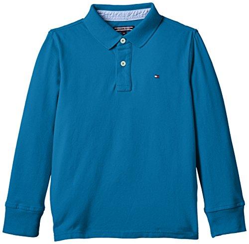 Calvin Klein - Maglietta Tommy Polo L/S, Bambino, Blu (Celestial 466), 80
