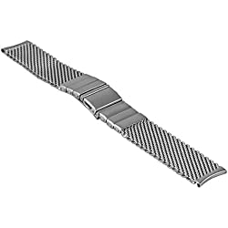 Vollmer, 0502SHR7, 18mm Watch band Milanese Mesh with SES Fold Over Clasp