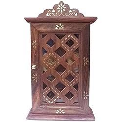 Regali speciali a Venerdì Santo.PMK Cabinet chiave in legno con vetro Porte Chex design, portachiavi Box.