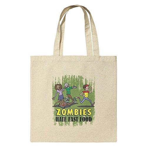Zombies Hate Fast Food Funny Lebensmittel-Reisetasche, wiederverwendbar, klein