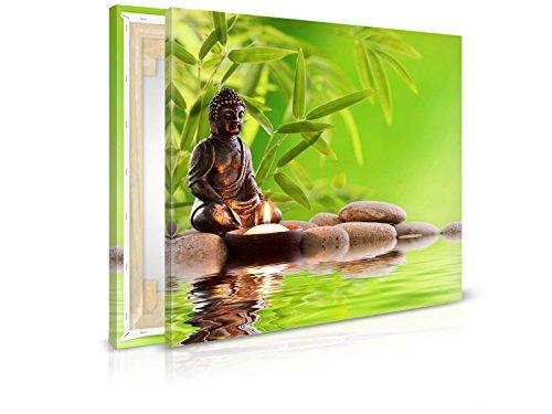 Leinwandbild Zen - Fertig Aufgespannt - Gemälde, Kunstdruck, Wandbild, Keilrahmen, Bild auf...