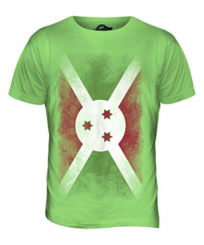 CandyMix Burundi Verblichen Flagge Herren T Shirt Limettengrün