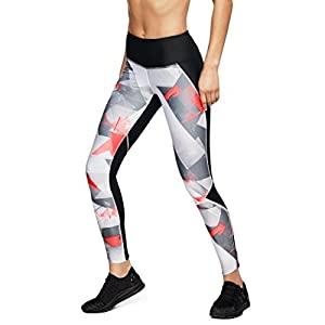 Under Armour, Armour Fly Fast Prntd Tight, Leggings, Donna, Nero (Black/Reflective 005), XS