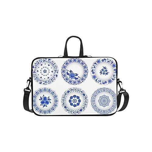 Chinesische Porzellan Malerei Stil Porzellanplatte Muster Aktentasche Laptoptasche Messenger Schulter Arbeitstasche Crossbody Handtasche Für Geschäftsreisen