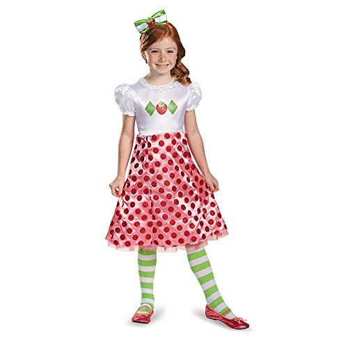 Disguise 84471K Strawberry Shortcake Classic Costume, Medium (7-8)