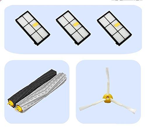 iRobot Roomba Serie 800: 3Hepa-Filter + 1Pack-Abziehersatz + 1Seitenbürsten (mit Schrauben)