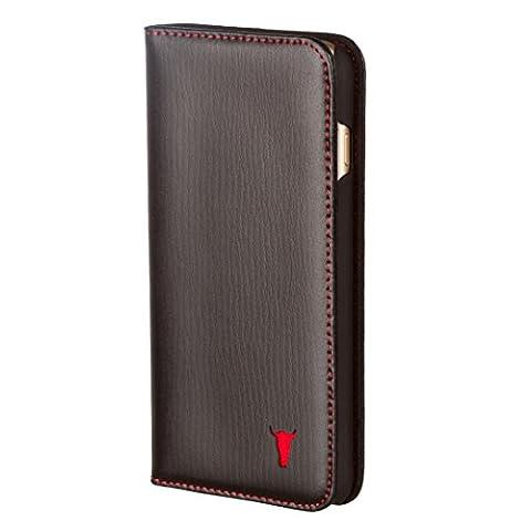 iPhone 6S Ledertasche / Hülle aus echtem, dünnem Leder, mit Standfunktion und Bargeld / Visitenkartenslot, schwarz von TORRO