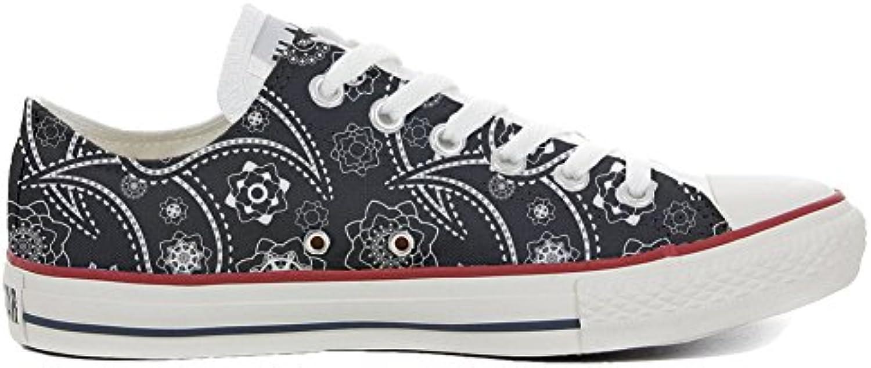 Converse All Star zapatos personalizadas (Producto Artesano) Black Paisley  -