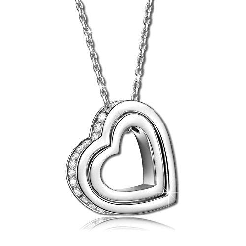 Pauline-Morgen-Damen-Kette-mit-gravur-Love-you-Forever-925-Sterling-Silber-Welch-ein-fantastisches-Geschenk-fr-die-Sternstunden-des-Lebens