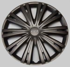 """Enjoliveurs de roues Giga Noir Gris foncé 13"""" Pouces Set de 4 Opel Audi BMW"""