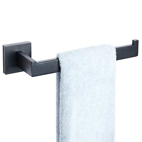 Sayayo Handtuchring Handtuchhalter Wand montiert, Edelstahl matt schwarz, EGS7010-B -