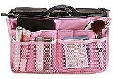 TheWin Travel Organiser Insert Tidy Cosmetic Handbag Pink