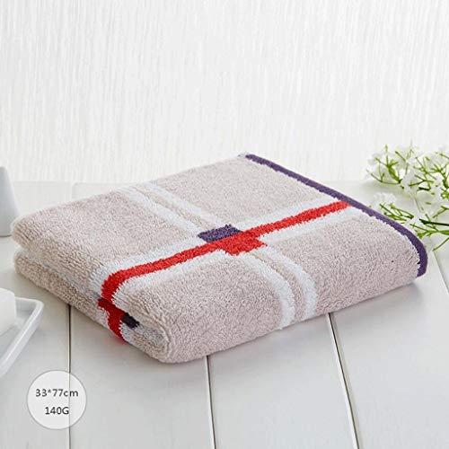 Elementi essenziali per il bagno di famiglia coppia di uomini e donne adulti a quadretti in cotone lavato lavare viso morbido assorbente 3 (colore: marrone) resistente, morbido e super assorbente