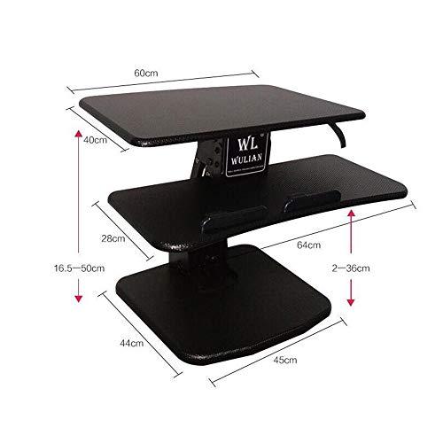 dianz Desktop-Tastatur zur Wandmontage für Heimdekoration/Möbel, extrabreite, höhenverstellbare Tischkonvertierung für zwei Monitore, Laptop, Klapptisch,Höhe 150-170cm - Höhe Klapptisch