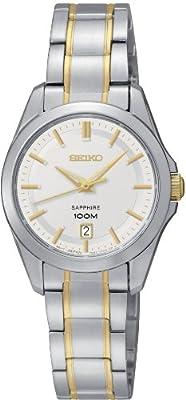 Seiko Damenuhren SXDF59P1 - Reloj analógico de cuarzo para mujer, correa de acero inoxidable