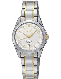 Seiko Damen-Armbanduhr XS Damenuhren Analog Quarz Edelstahl SXDF59P1