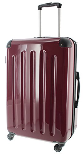 Pianeta Berlino taglia M bagaglio a mano - ABS Policarbonato Mix Guscio Duro Trolley valigia, trolley da viaggio con 4 Rotolo e TSA Serratura a combinazione, espandibile, 5 colori (XL rosso bordeaux)