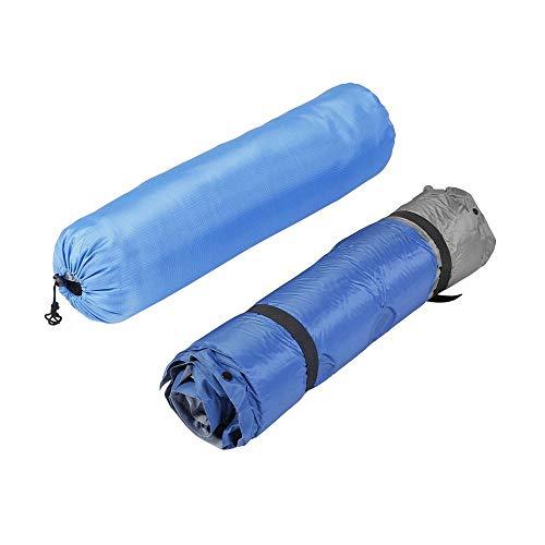 Waterproof Self-Inflating Dampproof Sleeping Pad Tent Mat Outdoor Air Mattress Blue&grey -