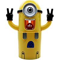 Volans brand new single eye Minions Wash Kit Toothbrush Holder Automatic Toothpaste Dispenser by Volans
