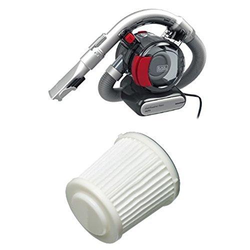 Black + Decker PD1200AV Auto-Sauger Dustbuster Flexi mit Black + Decker PD10 Ersatz-Feinstaubfilter