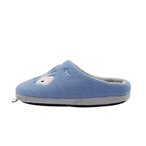 Kenroll Unisex-Kinder Warme Schuhe Hausschuhe - Jungen und Mädchen Blue