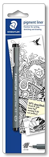 Staedtler 30801-9BKD Penna a pigmentazione a punta sottile, 0.5 mm, Nero