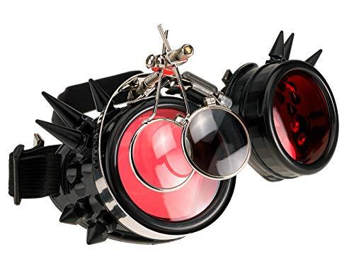 4sold Loupes Steampunk Antique Copper Cyber   Goggles Rave Goth Vintage Victorian Sonnenbrillen Inklusive GRATIS UV400 Sonnenbrille Objektiv und zusätzliche Aufkleber alle Bilder sehen -