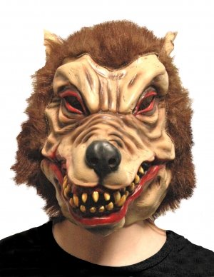 Scream Machine Adult Wolfman Latex Mask with Synthetic Hair by Scream (Maske Wolfman Latex)