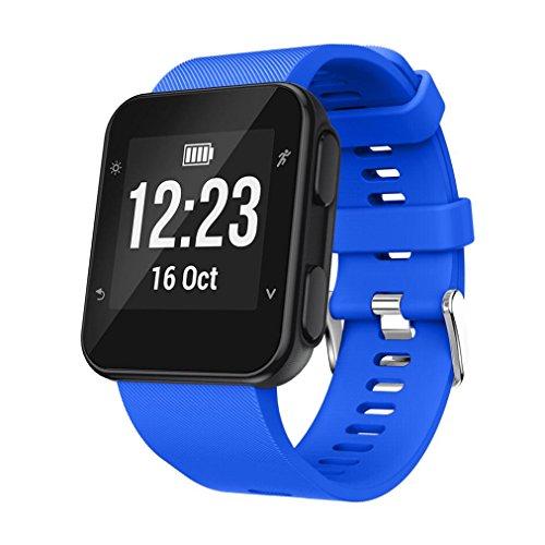 Clode® Für Garmin Armband Ersatz Armband Silicagel Soft Band Strap Ersatzarmband Uhrenarmband Für Garmin Forerunner 35 (Blau)