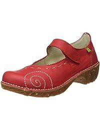 El Naturalista N095 Soft Grain Yggdrasil, Zapatos de Tacón con Punta Cerrada para Mujer