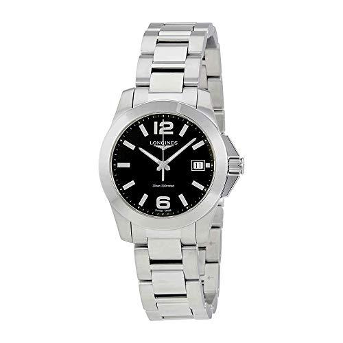Longines Conquista Negro Dial Damas Reloj l33774586