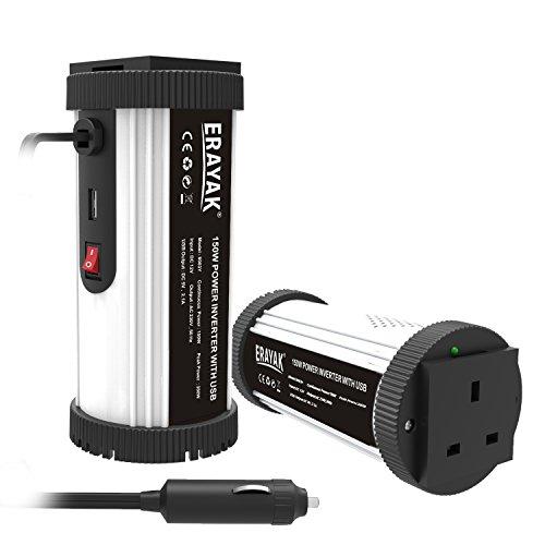 ERAYAK 150W auto wechselrichter-cup macht uns verkaufsstellen und 2.1A USB füllöchern mit zigarettenanzünder - kabel, dc12v zu ac230v, zum antrieb von laptops, dvd, musikspieler, handys, tablets-8083Y