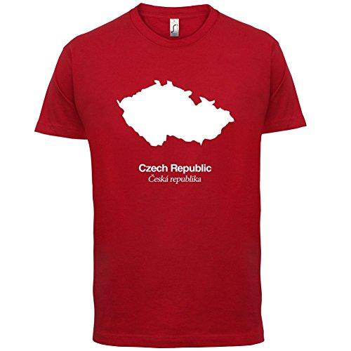 Czech Republic / Tschechische Republik Silhouette - Herren T-Shirt - 13 Farben Rot