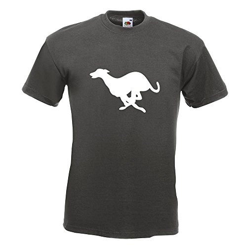 KIWISTAR - Windhund T-Shirt in 15 verschiedenen Farben - Herren Funshirt bedruckt Design Sprüche Spruch Motive Oberteil Baumwolle Print Größe S M L XL XXL Graphit