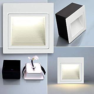 MAXKOMFORT® LED Treppenbeleuchtung 230V warmweiß treppenleuchte Wand Einbauleuchte Einbaustrahler Treppenlicht Flurleuchte Nachtlicht 2530