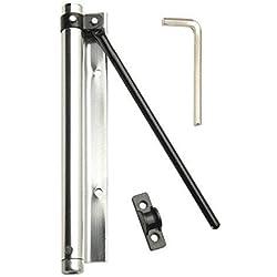 Wolfpack 3091455 - Muelle puerta aluminio anodizado, color plateado, blister 1 pieza