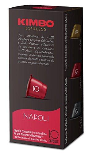 Kimbo capsule napoli compatibili nespresso, 12 astucci da 10 capsule (tot 120 capsule)