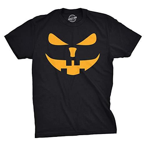 Mens Buck Teeth Pumpkin Face Funny Fall Halloween Spooky T Shirt (Black) - 5XL - Herren - 5XL ()